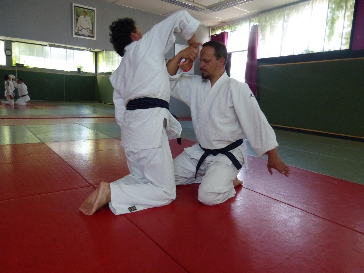 Travail kata 4 à genoux dojo Wa-Jutsu Agenais