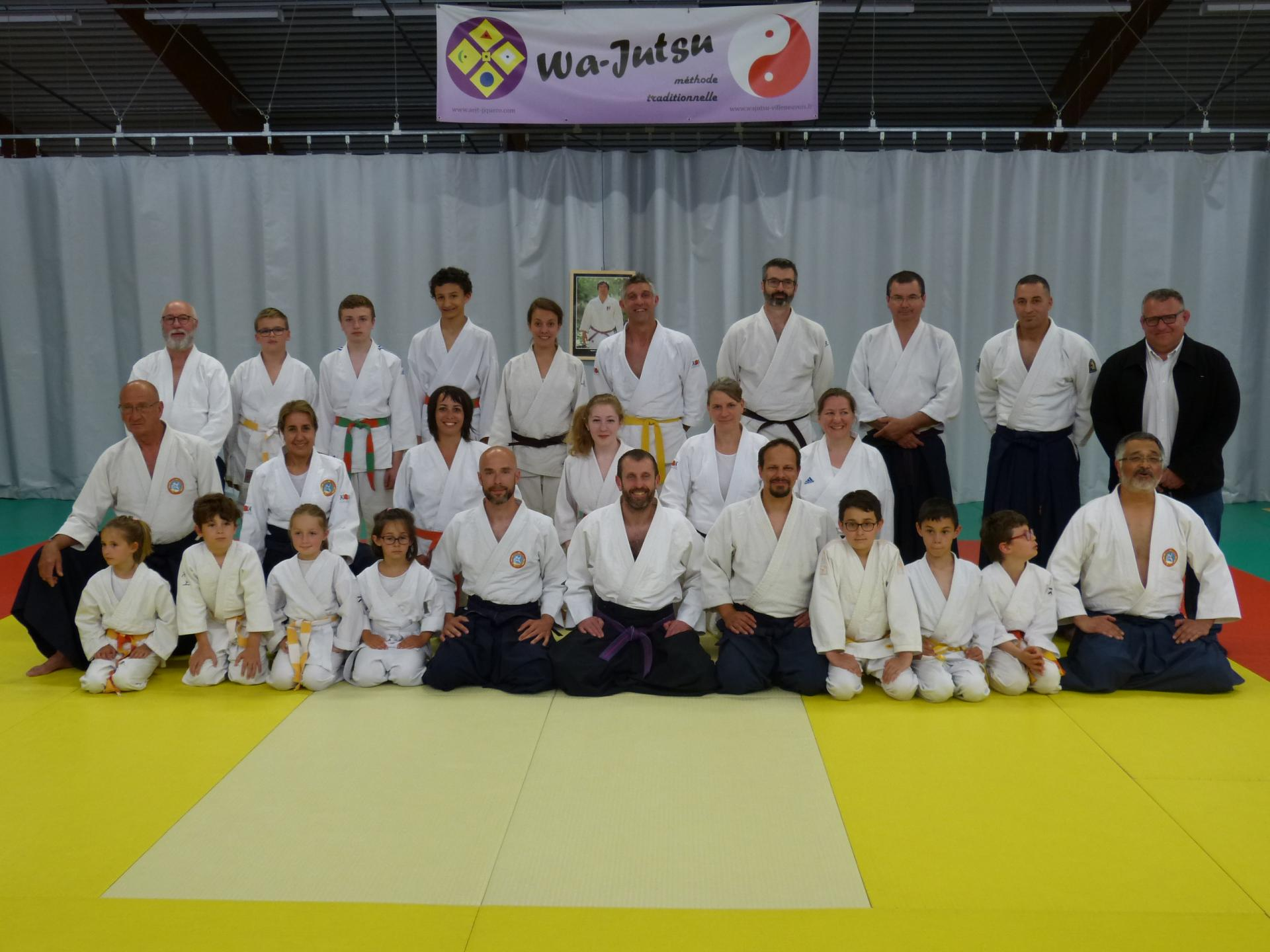 Cérémonie de remise des grades 15 juin 2019 Wa-Jutsu Villeneuvois