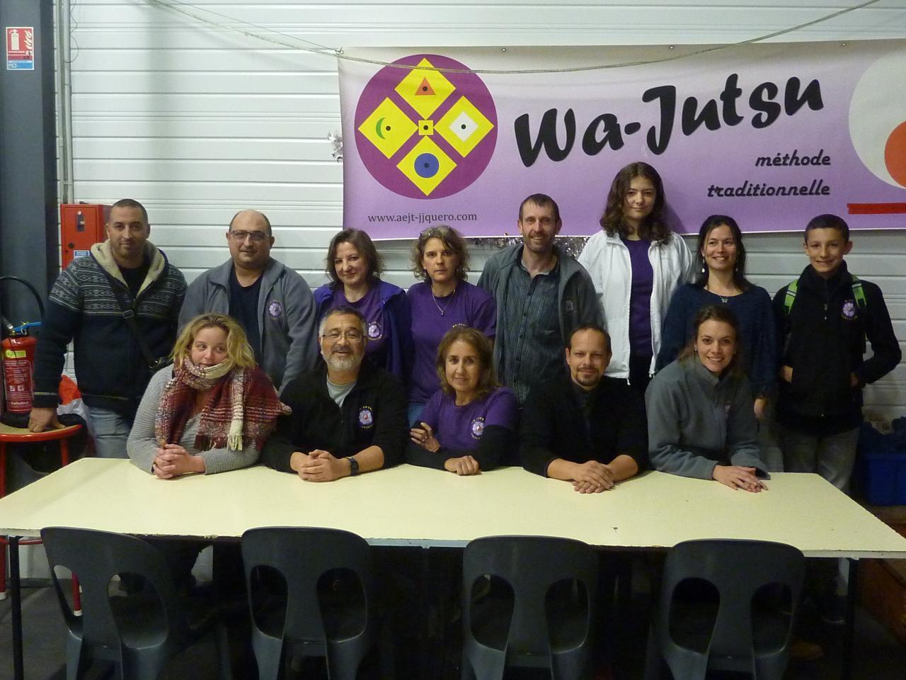 Equipe du loto au Cercle, 2 décembre 2017, Wa-Jutsu Villeneuvois
