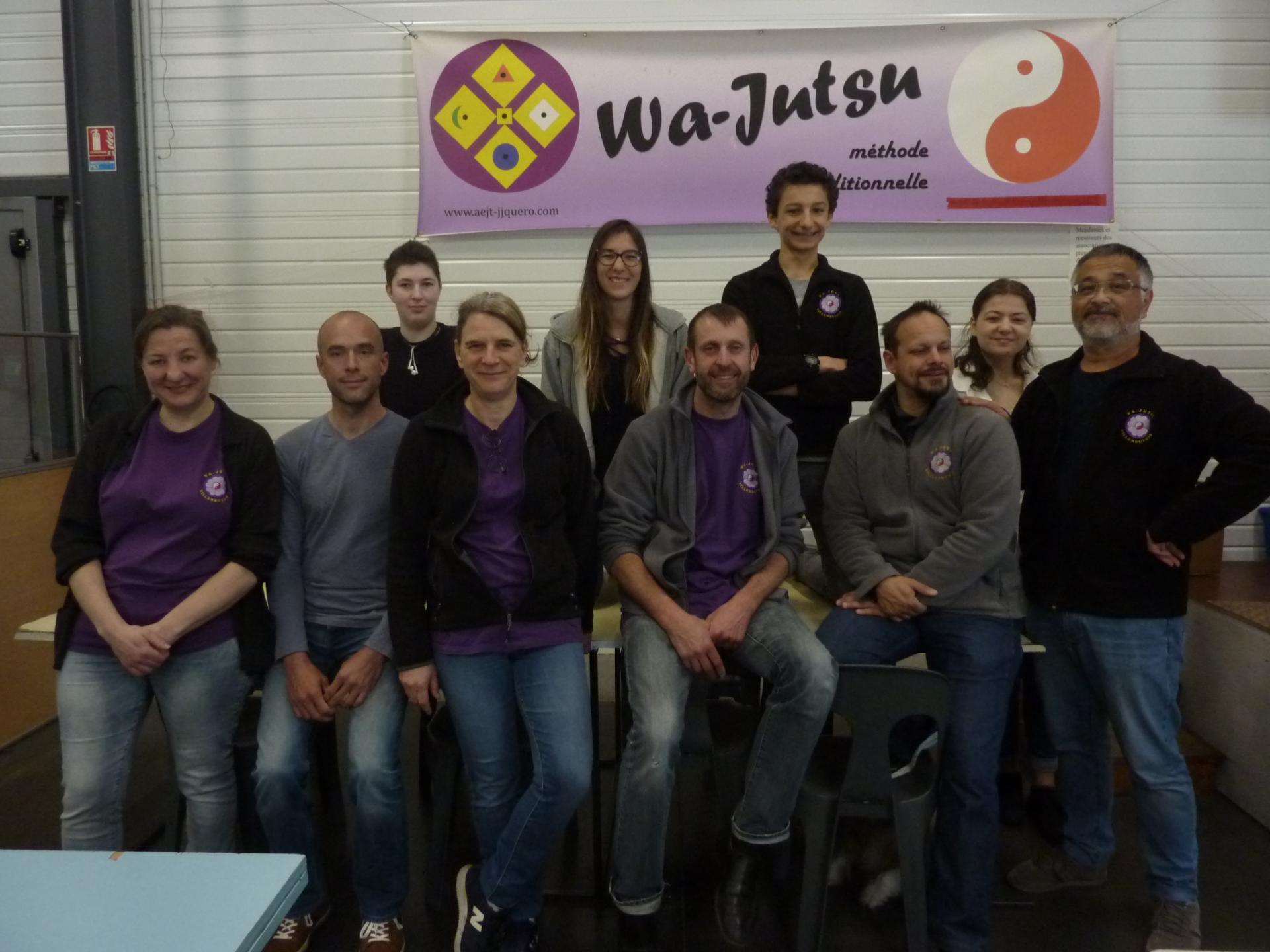 L'équipe des lotos du Wa-Jutsu Villeneuvois 4-5 mai 2019