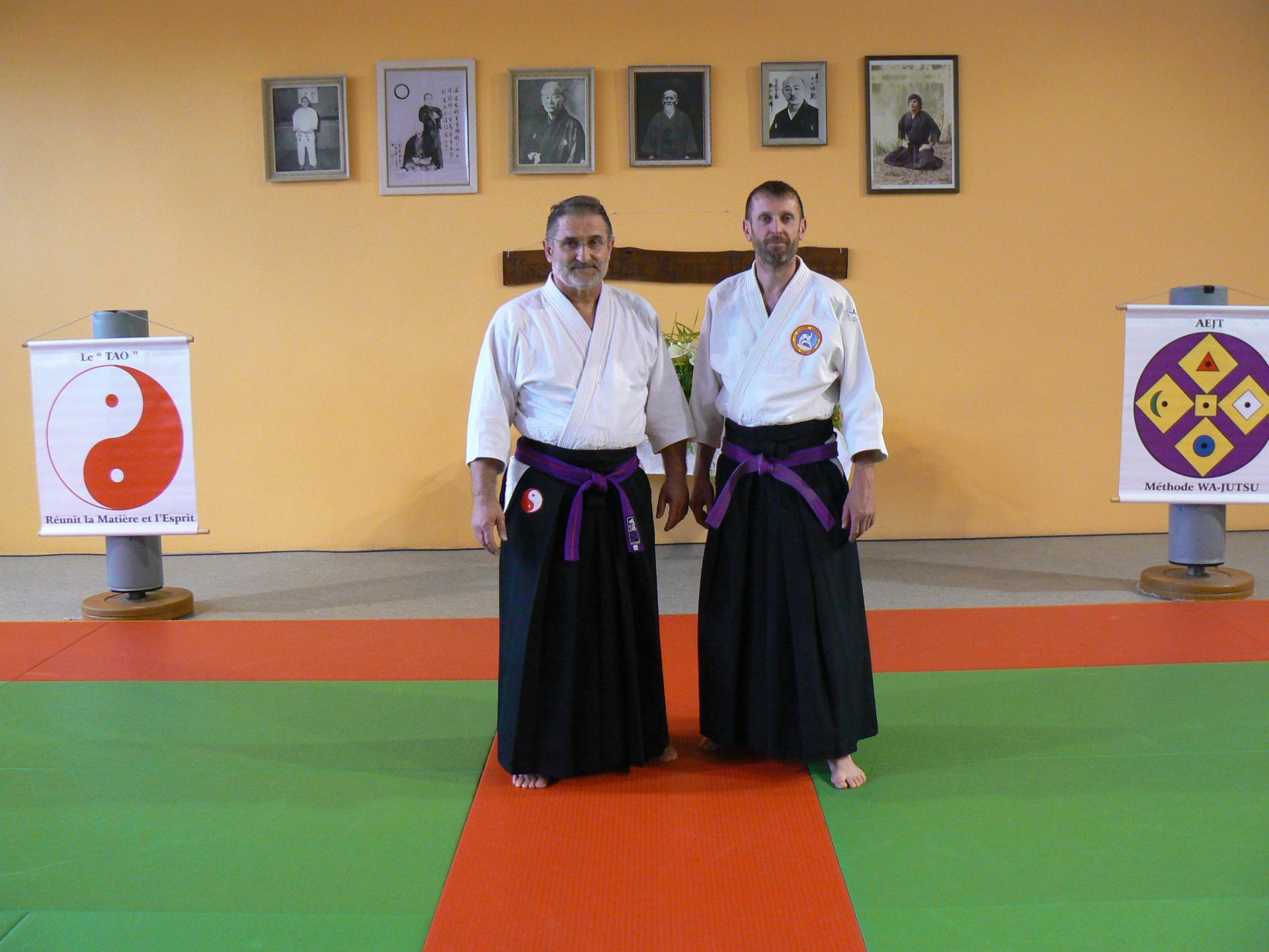 M. MAILLOU et M. HANTUTE, Okuden-Shihan, Cérémonie mise à l'honneur Miramont 27 mai 2018
