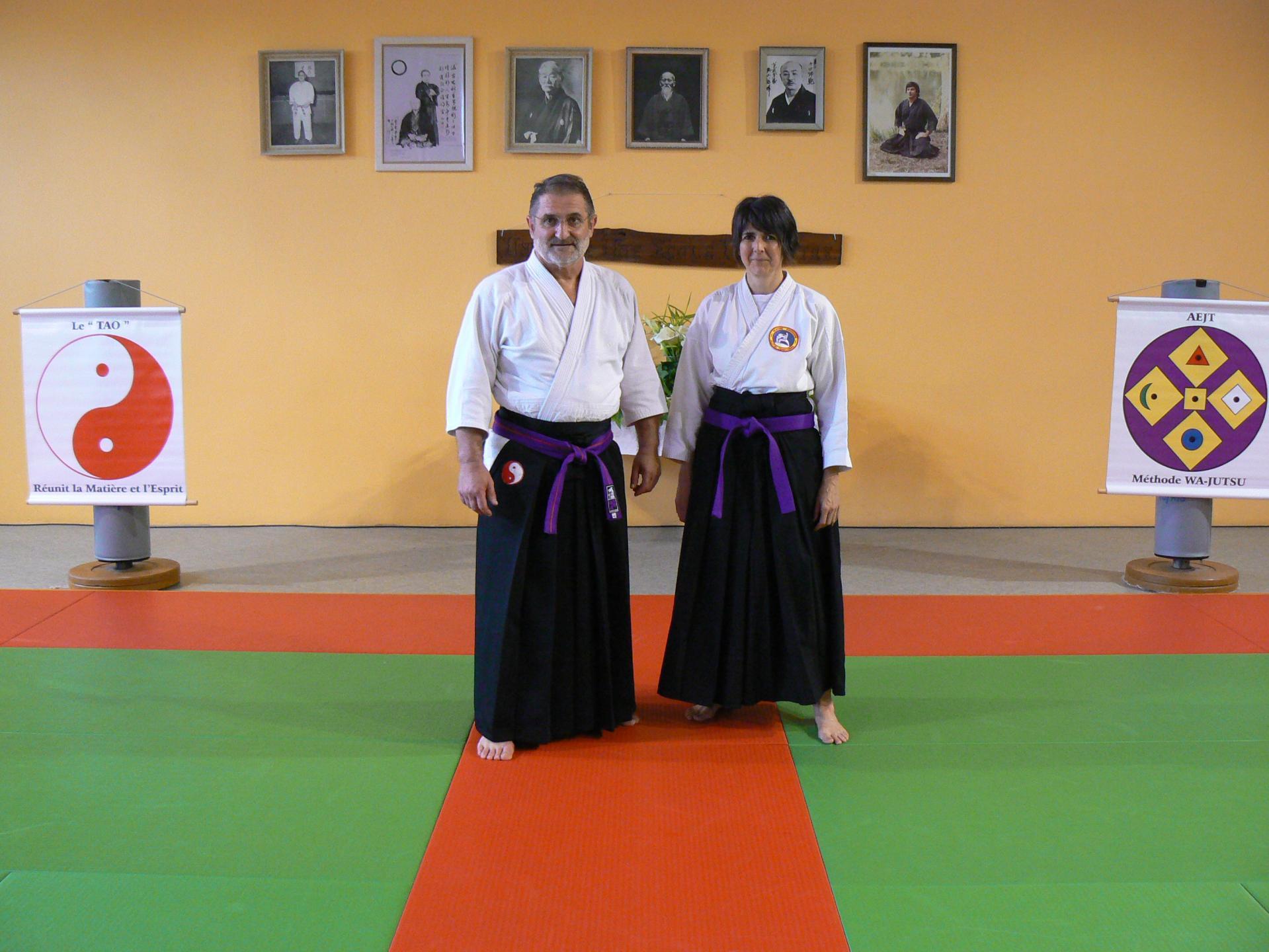 M.MAILLOU, Okuden-Shihan et Mme BACH, Renshi selectionné,  Miramont 27 mai 2018